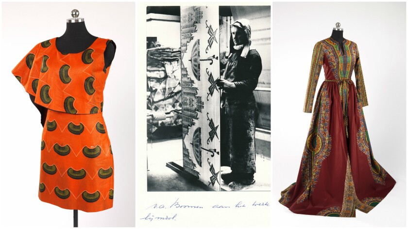 "Fashion pieces as well as photo and other artifacts are on display in ""African-Print Fashion Now! A"
