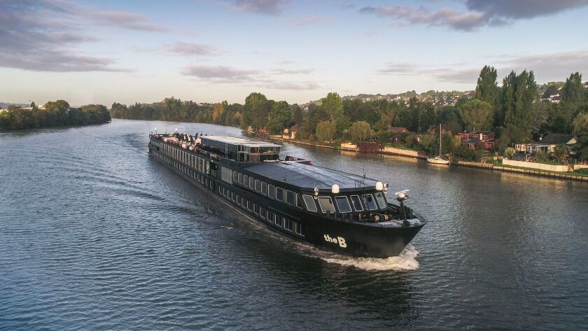 U by Uniworld's ship B was painted black for its European debut.