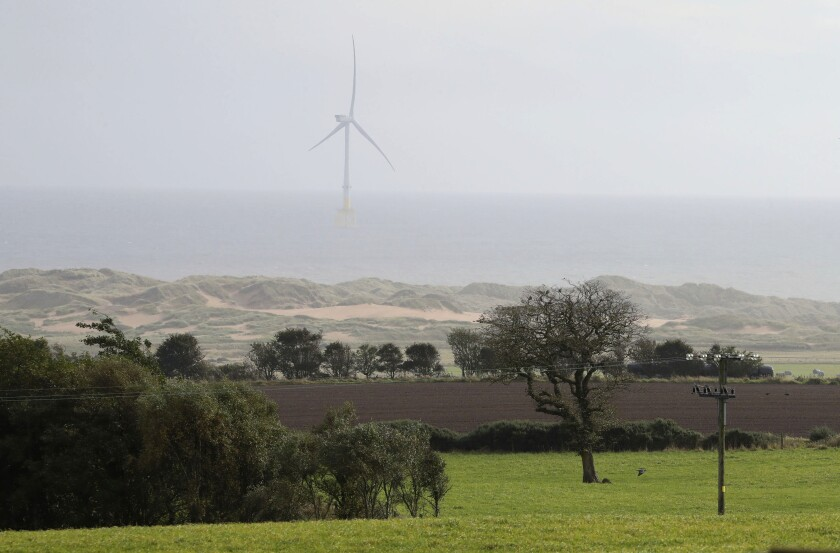 A view of the site for the proposed 'Trump Estate' in Balmedie, Aberdeenshire, Scotland. President Donald Trump's real estate company has received approval for a major housing development of 550 homes on the Menie Estate where one of his golf courses is located. (Andrew Milligan/PA via AP)
