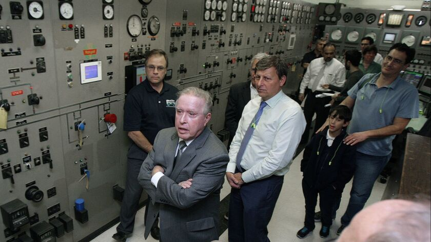 Former Councilman Dave Weaver and current Glendale Mayor Ara Najarian toured the Grayson Power Plant in 2015. During a recent Glendale Water & Power Commission meeting, a plan for replacing Grayson's aging equipment was released and recommended to the City Council.