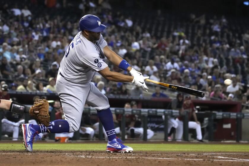 El dominicano Albert Pujols, de los Dodgers de Los Ángeles.