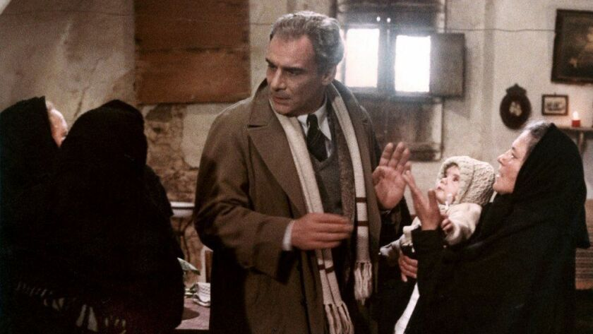 "Gian Maria Volonté in Francesco Rosi's ""Christ Stopped at Eboli"" -- the full cut of which was assumed to be lost."