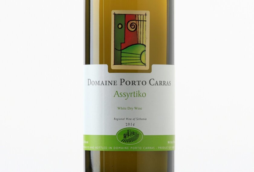 A little hard to pronounce but esy to drink: the 2014 Domaine Porto Carras Assyrtiko, from Greece.