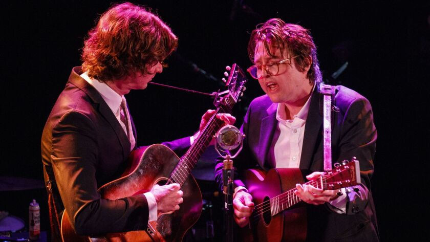 Milk Carton Kids - Joey Ryan and Kenneth Pattengale - perform during a tribute to John Prine at The