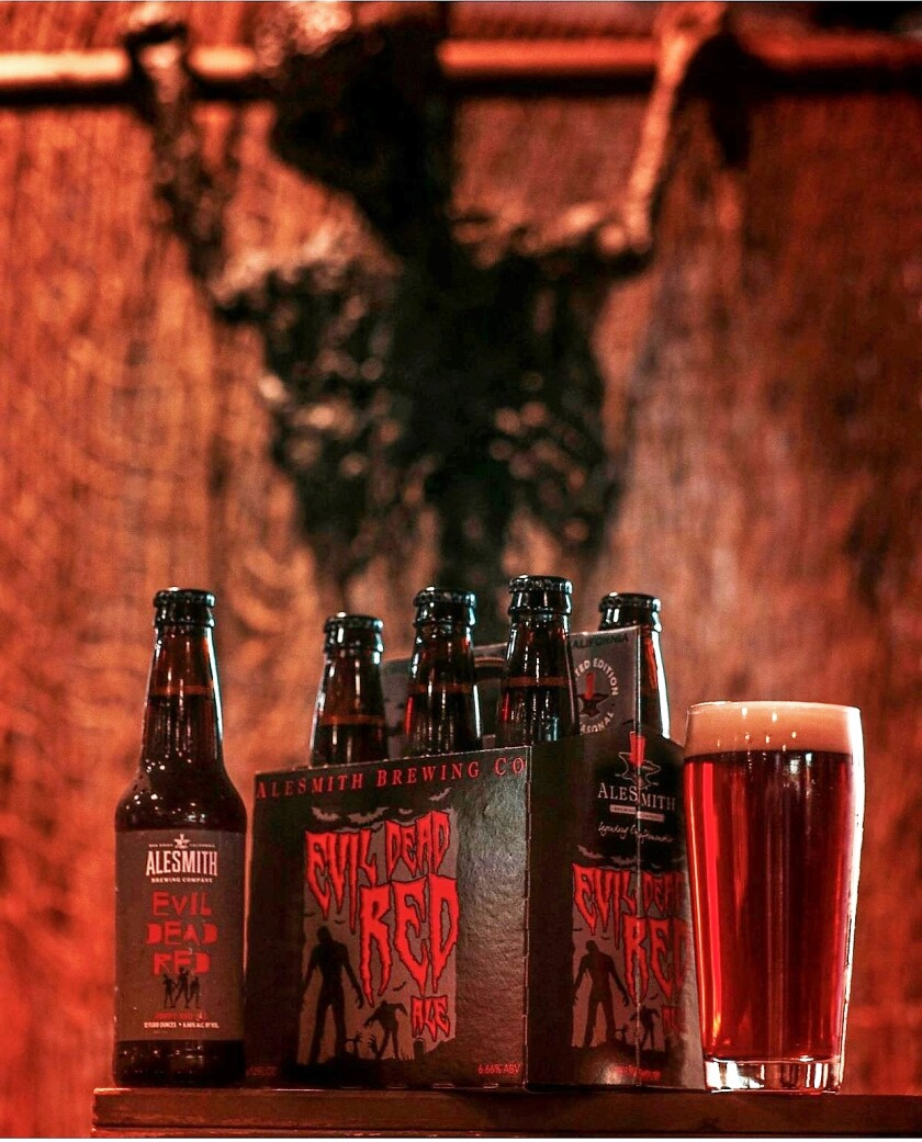 Evil Dead Red, a red ale from AleSmith Brewing Company.