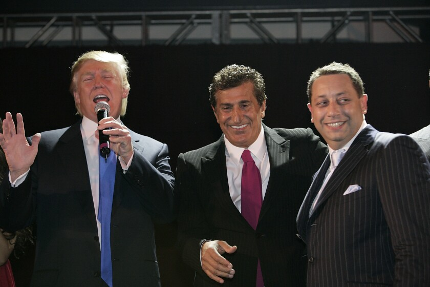 From left: Donald Trump, Bayrock Group founder Tevfik Arif and Felix Sater in New York in 2007.
