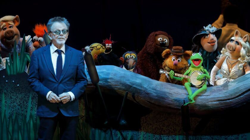 Paul Williams joins the Muppets on stage at the Hollywood Bowl.