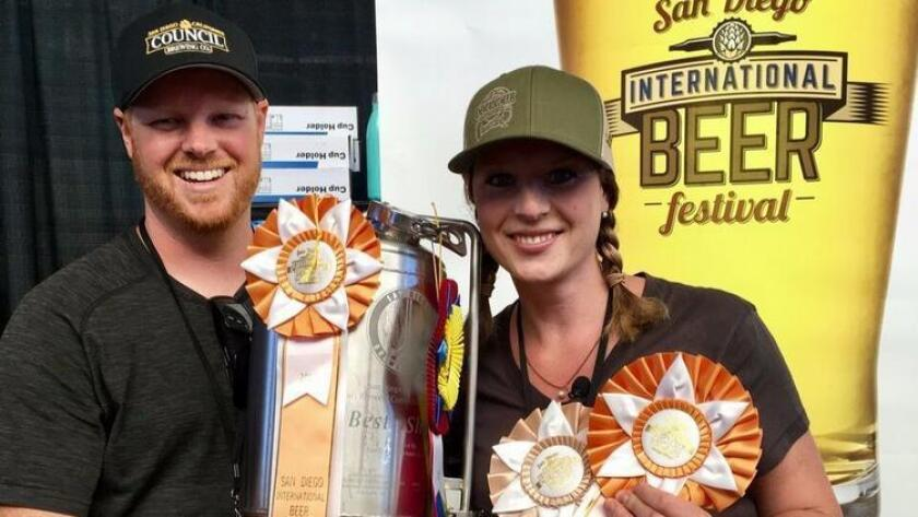 Council Brewing's married co-owners, Curtis and Liz Chism. (Courtesy San Diego County Fair)