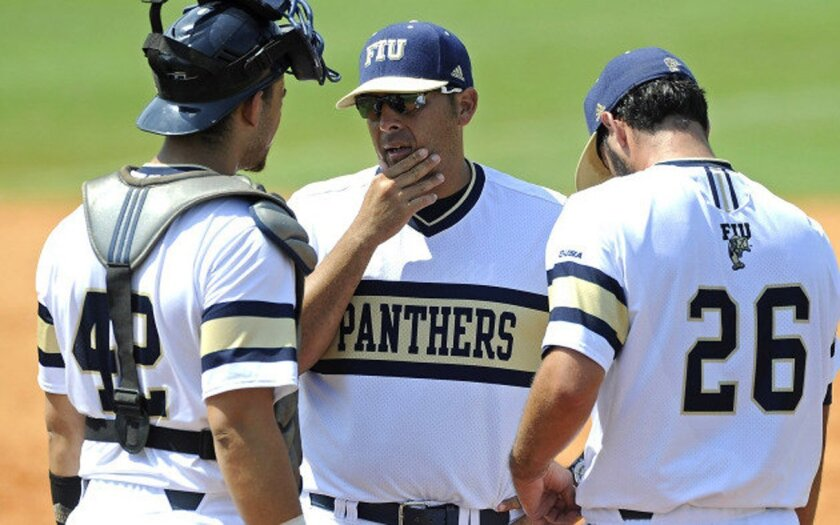 Florida International University pitching coach Sam Peraza has been hired as San Diego State's pitching coach.