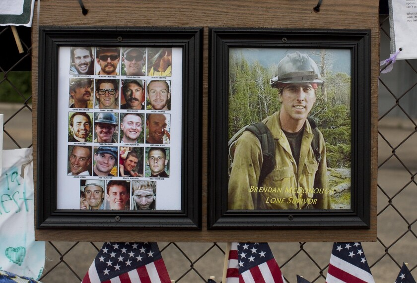 What is the lone surviving firefighter from Yarnell Hill fire doing
