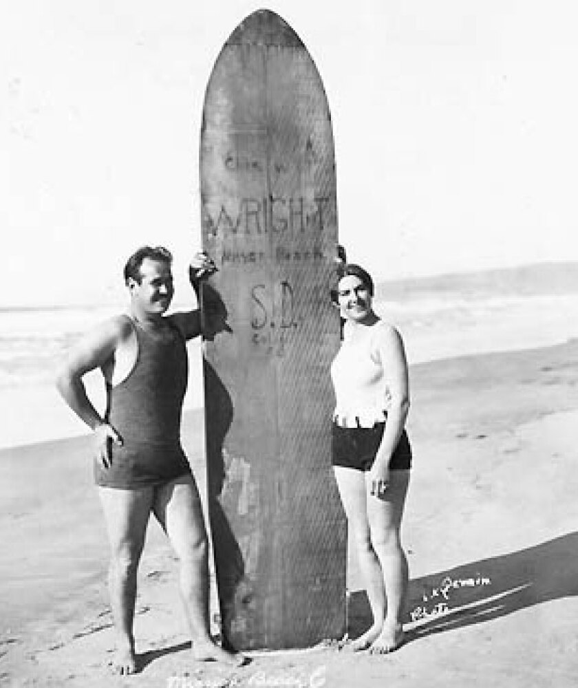 Charles Wright and Faye Baird in Mission Beach