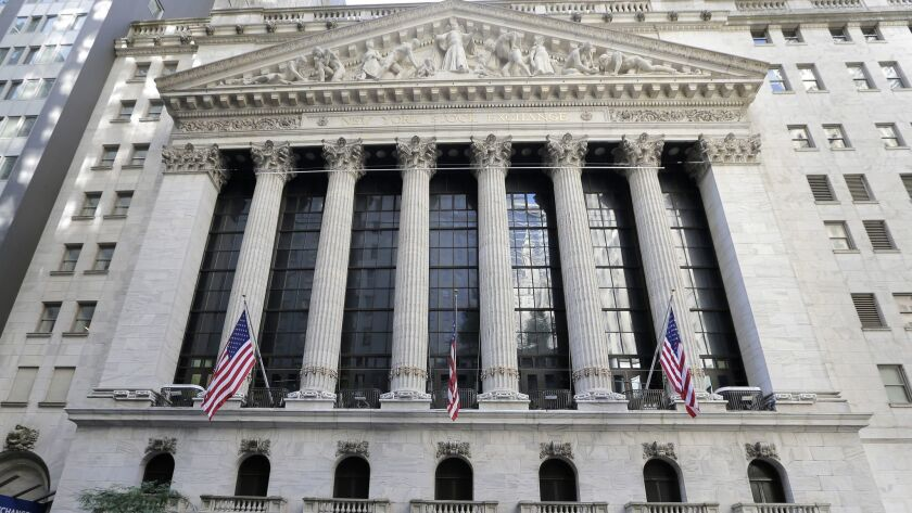 FILE- This June 25, 2018 file photo shows the New York Stock Exchange in New York. The U.S. stock ma