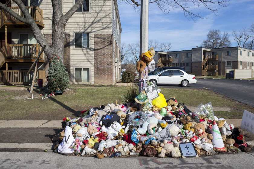 Michael Brown memorial hit by car, then rebuilt - Los Angeles Times