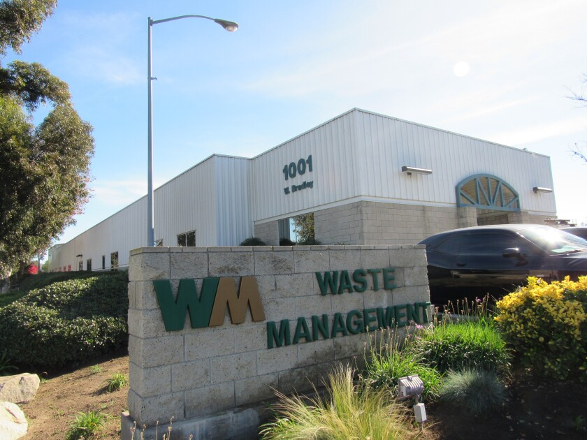 El Cajon has approved an agreement that will allow Waste Management to stay at its site on West Bradley Avenue for the next 20 years.