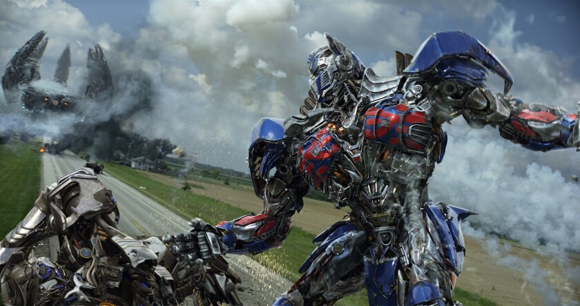 "Optimus Prime in ""Transformers: Age of Extinction,"" the fourth installment of the films."