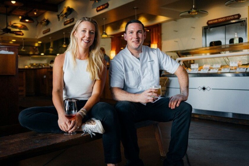 Annemarie Brown-Lorenz, The Fishery's general manager and sommelier, and Executive Chef Mike Reidy.