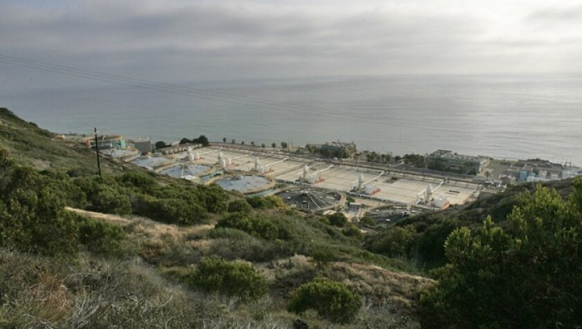 The Point Loma Wastewater Treatment Plant.