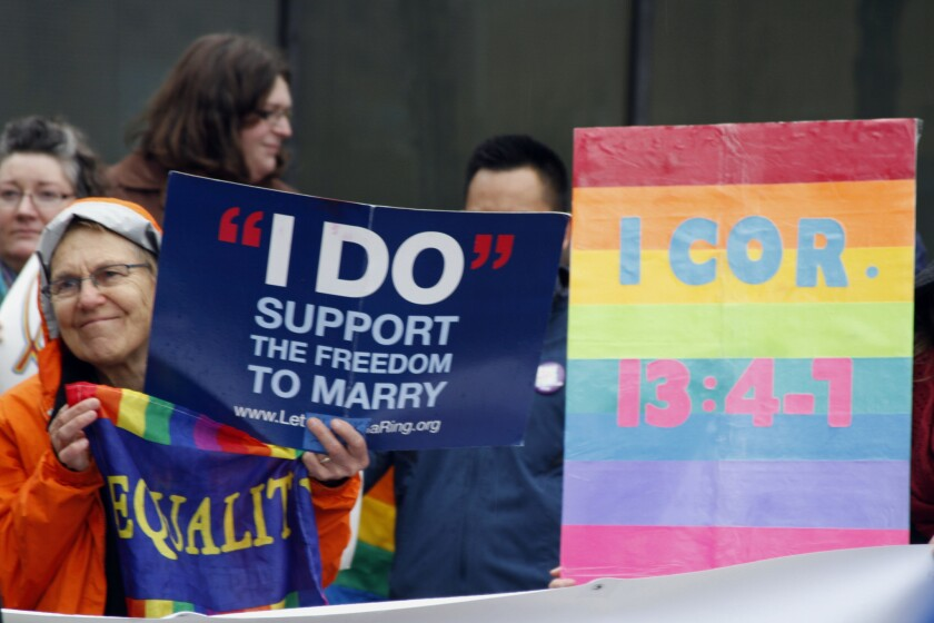 Gay marriage supporters in Alaska