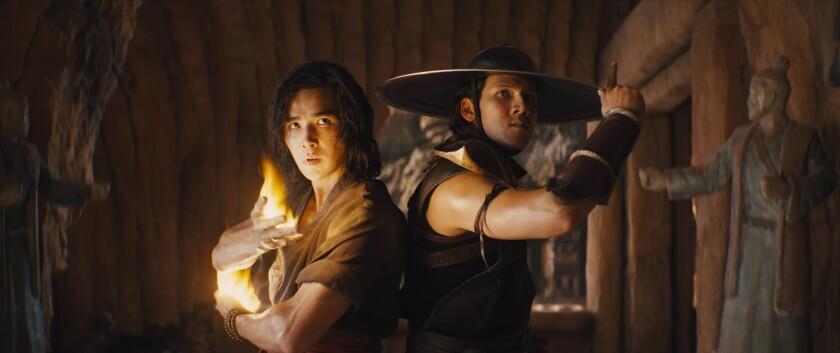 """Ludi Lin, left, and Max Huang in """"Mortal Kombat."""""""