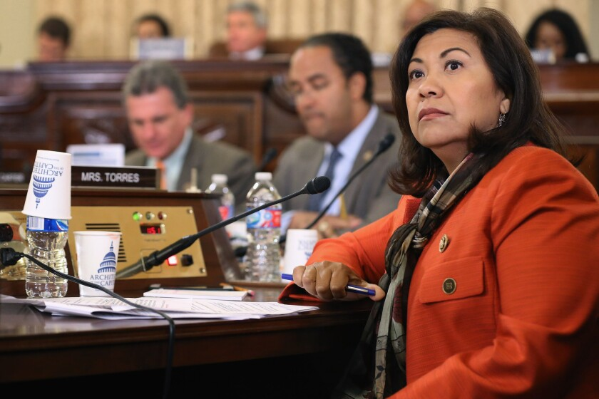In the aftermath of the San Bernardino attack, Rep. Norma Torres (D-Pomona) is calling for more cooperation between federal and local law enforcement agencies, including giving local police more access to surplus military equipment.