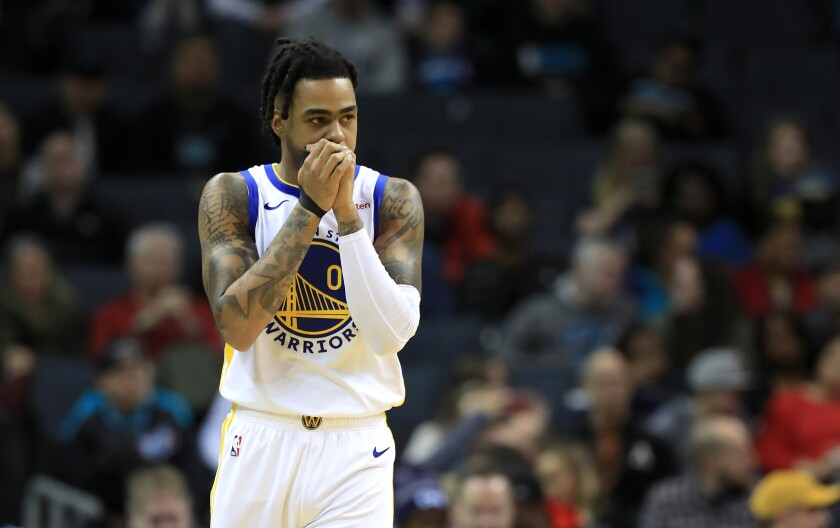 Point guard D'Angelo Russell has been traded from the Warriors to the Timberwolves.