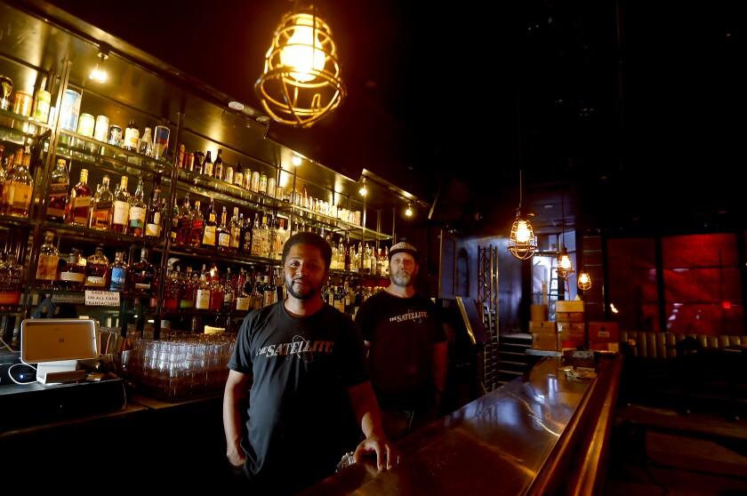 Manager Ashanti Rogers and Jeff Wolfram at the Satellite nightclub