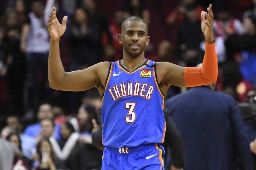 Thunder Paul Basketball