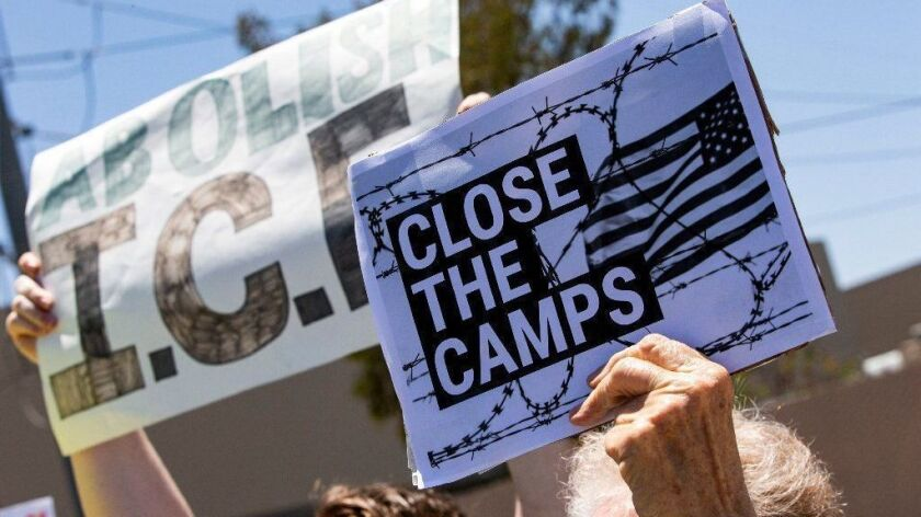 Protest against migrant detention in San Diego, Los Angeles, USA - 02 Jul 2019
