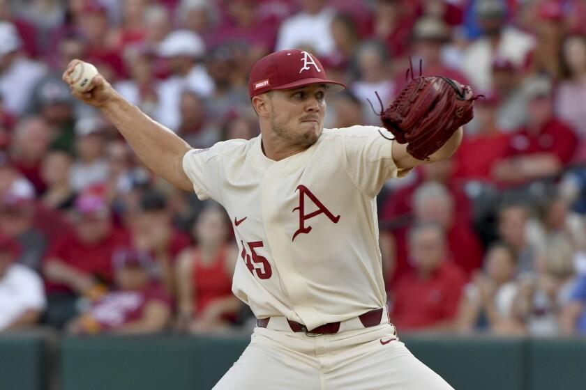 Arkansas pitcher Kevin Kopps