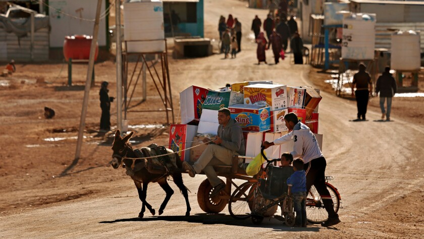 Home to more than 85,000 people, the Zaatari refugee camp has become a small city, with more than 3,000 shops and kiosks set up mainly by Syrian refugees.