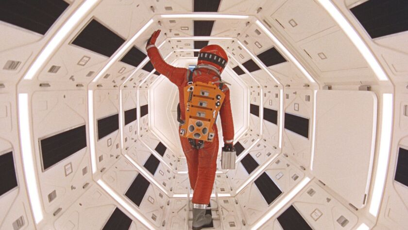 A movie still from Stanley Kubrick's 1968 science fiction film '2001: A Space Odyssey' starring Gary