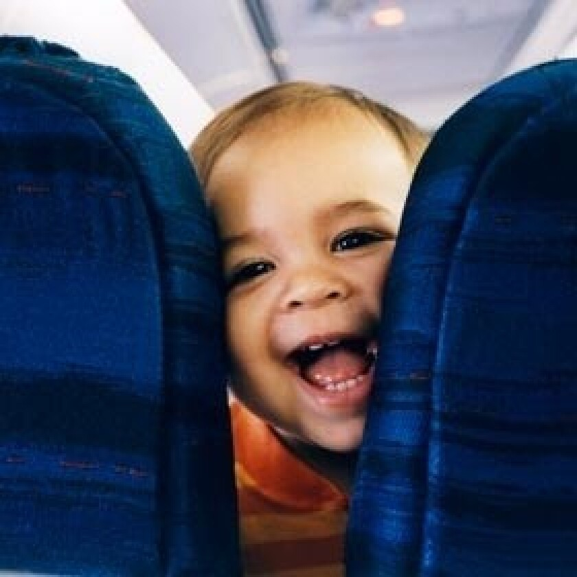 Most annoying etiquette violations on a plane is child's