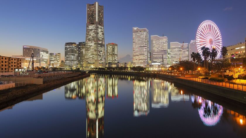 Yokohama's waterside business district is a forest of skyscrapers--and a giant Ferris wheel.