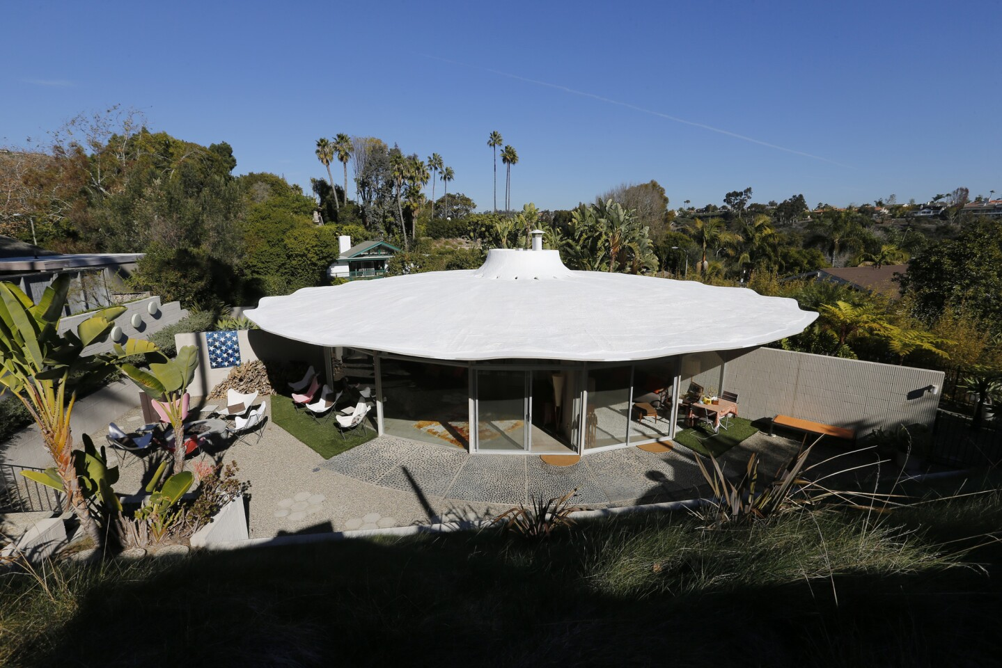 Exterior view of Einar Johnson and Pat Gough's Horizon home in Laguna Niguel. Horizon Homes, a 1960s program that encouraged architects to work in concrete, is the subject of an upcoming book by Laguna Niguel author Ted Wells.