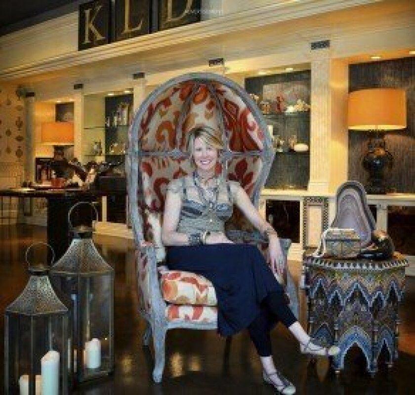 Kris Lajeskie in the Kris Lajeskie Design Group showroom. Courtesy photo