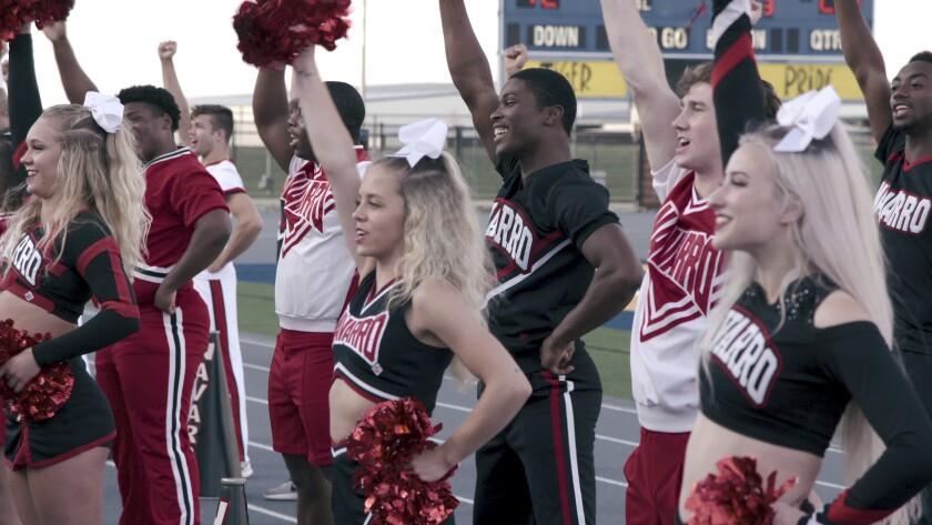 "The Navarro College team in Netflix's Emmy-nominated docuseries ""Cheer."""