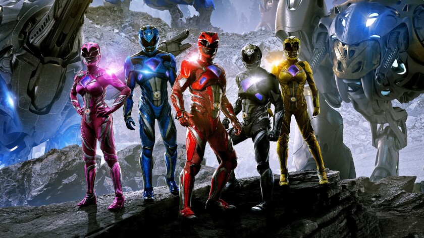 """The soon-to-be-released """"Power Rangers"""" movie."""