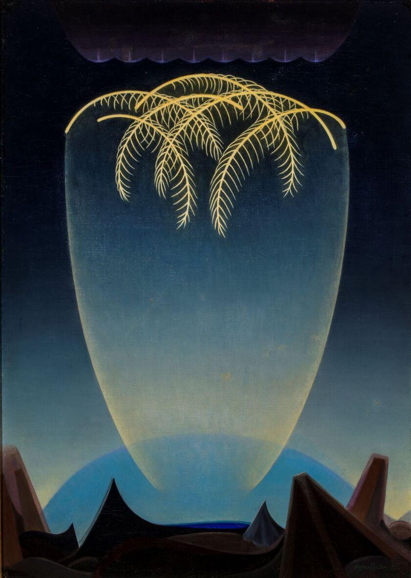 """Agnes Pelton, """"Messengers,"""" 1932, oil on canvas"""
