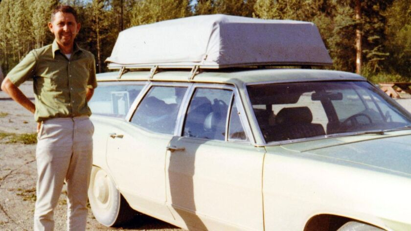 John Hopkins on the road to Alaska with the road-ready wagon.