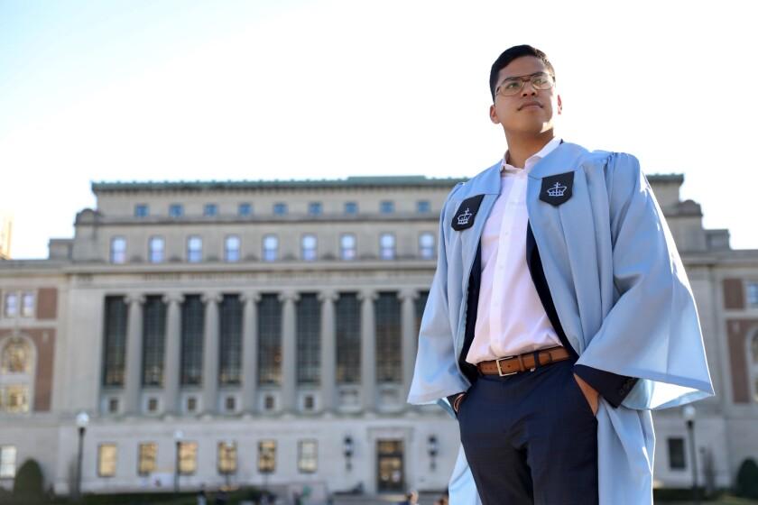 Columbia University graduate Japhet Perez Estrada.