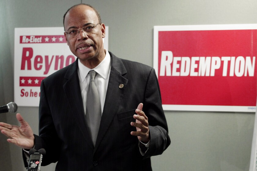 Former U.S. Rep. Mel Reynolds announces a run for Congress in 2012.