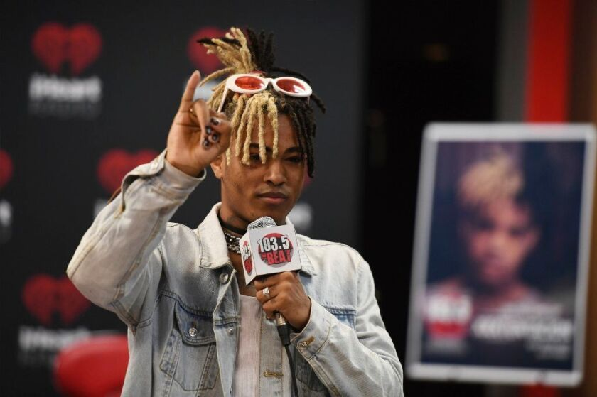 FORT LAUDERDALE, FL - MAY 26: Xxxtentacion visits iHeart radio Station 103.5 The Beat on May 26, 2017 in Fort Lauderdale, Florida.