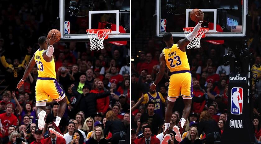 LeBron James debut as a Laker
