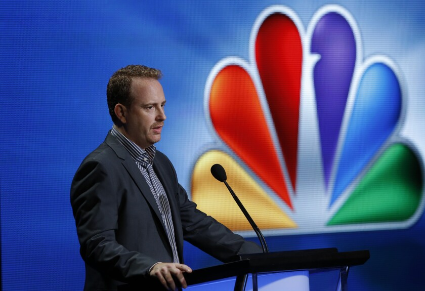Robert Greenblatt speaks at the NBCUniversal press tour in July 2012.