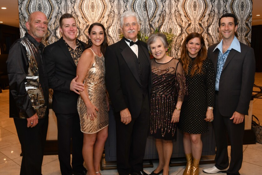Mark Klaus (HGH president/CEO), Jesse and Rachel Wood (she's gala chair), Ben and Sheila Trovaten (honorees; longtime volunteers; he's been HGH board member for 30 years), Marcy and Isaac Blumberg (he's HGH board president)