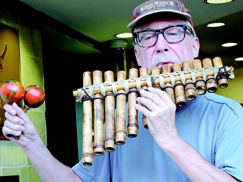 Self-taught musician Todd Hoover can be found playing a variety of interesting instruments most evenings on the Village streets of La Jolla.
