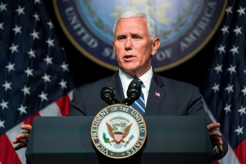US Vice President Mike Pence speaks on President Trump's push for a space force at the Pentagon in Arlington, Virginia, USA. EFE/EPA/Archivo