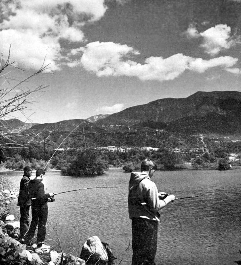 Lake at Devil's Gate Dam, Pasadena, 1959