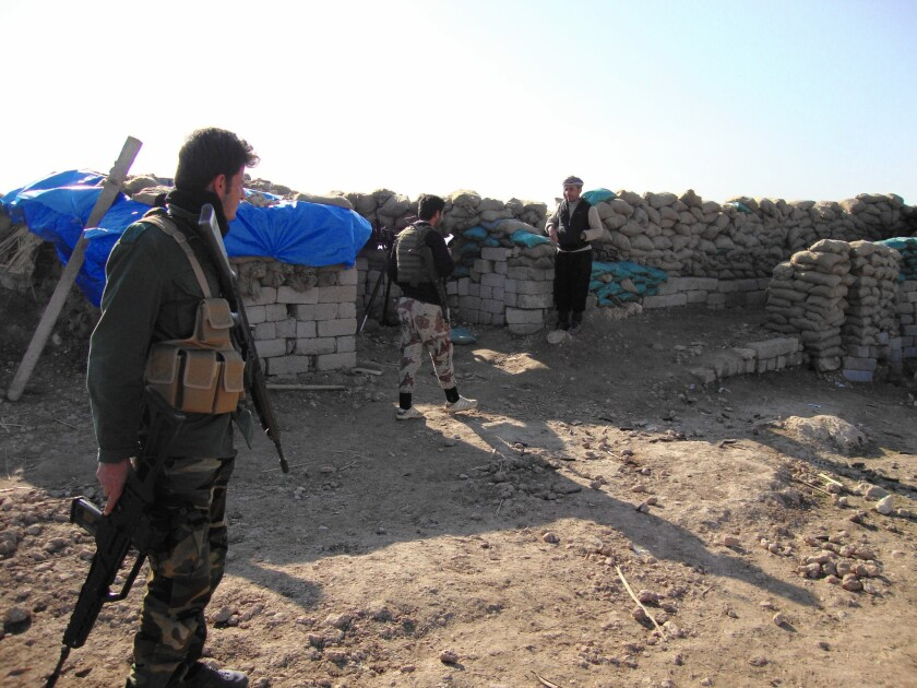 Kurdish fighters near Mosul, Iraq