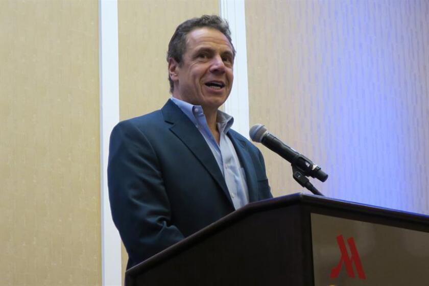 El gobernador de Nueva York, Andrew Cuomo, habla durante un acto. EFE/Archivo